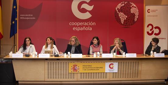 Mesa redonda con activistas de genero en la AECID sobre los 25 años de la IV Conferencia de las Naciones Unidas por los Derechos de las Mujeres en Beijing