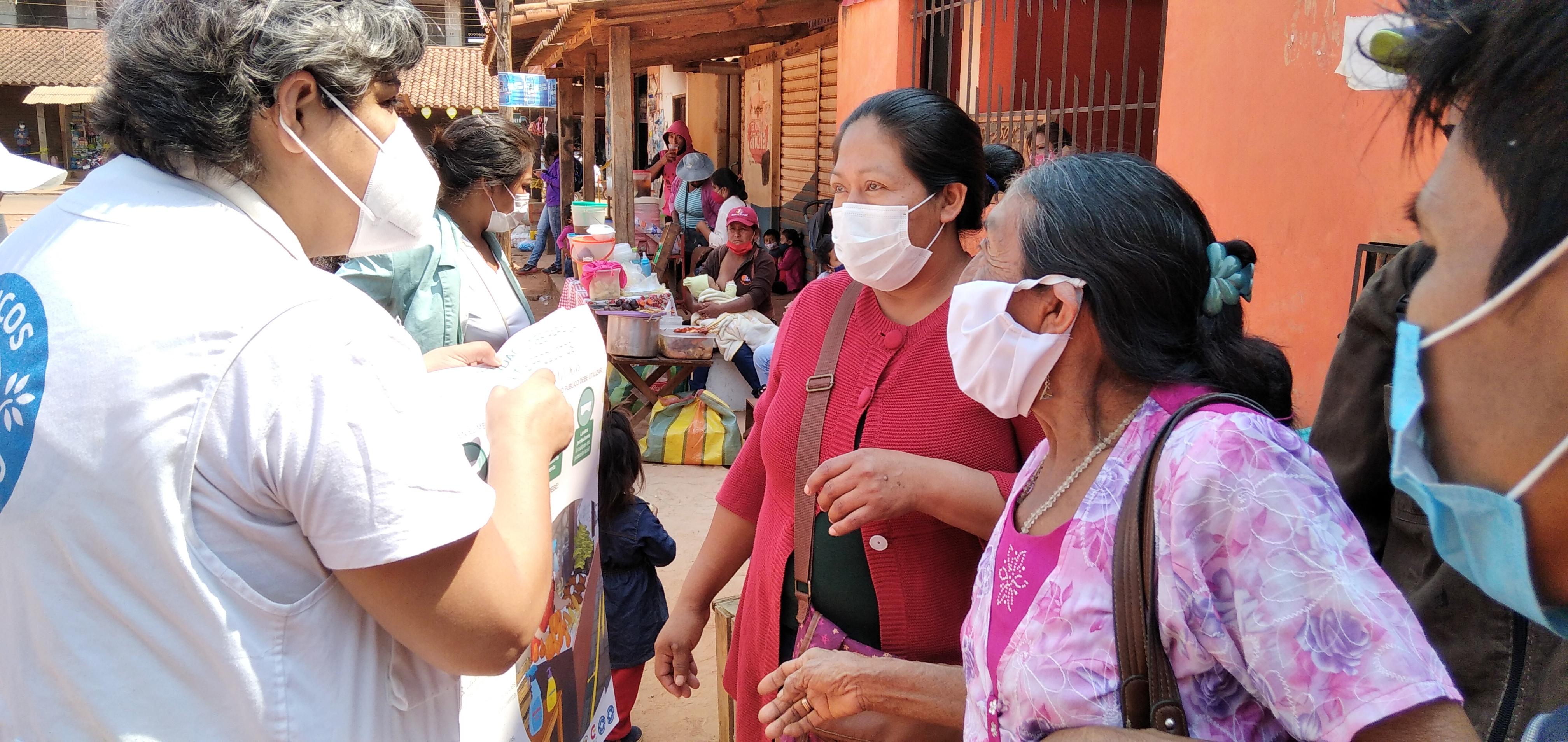 Informando sobre la pandemia en San Ignacio de Velasco. Santa Cruz
